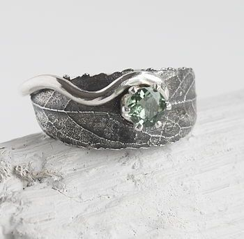 handmade silver woodland leaf ring by caroline brook | notonthehighstreet.com