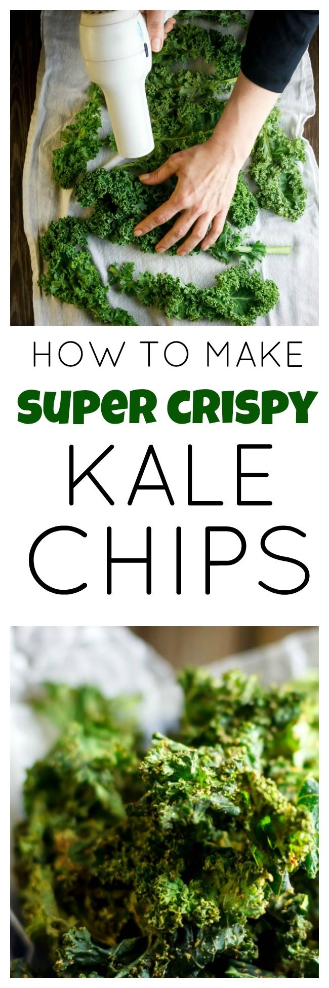 Cool, easy tricks to make your kale chips super crispy!