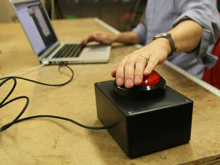 """The Awesome Button - ROFL! When writing about something awesome, just hit the big red button and it """"randomly"""" inserts a synonym for """"awesome"""" - ROFL!! I SO need one of these!!"""
