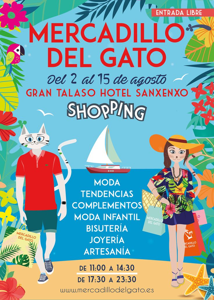 Mercadillo del Gato 2017 de Sanxenxo. Ocio en Galicia | Ocio en Pontevedra. Agenda actividades: cine, conciertos, espectaculos