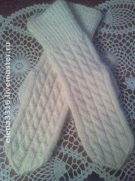 Купить Варежки женские Пух + альпака (1) - вязаные варежки, ручная работа