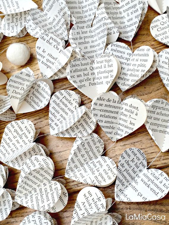 Book themed baby shower decorations, Book themed wedding, Book themed gifts, Garland, Book themed party, French themed, Bridal Shower