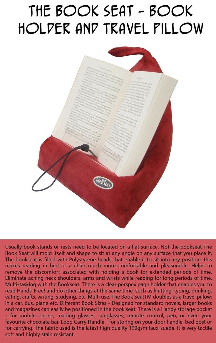 A Book Holder That Doubles As A Travel Pillow Molds Itself And Will Shape  To Sit…