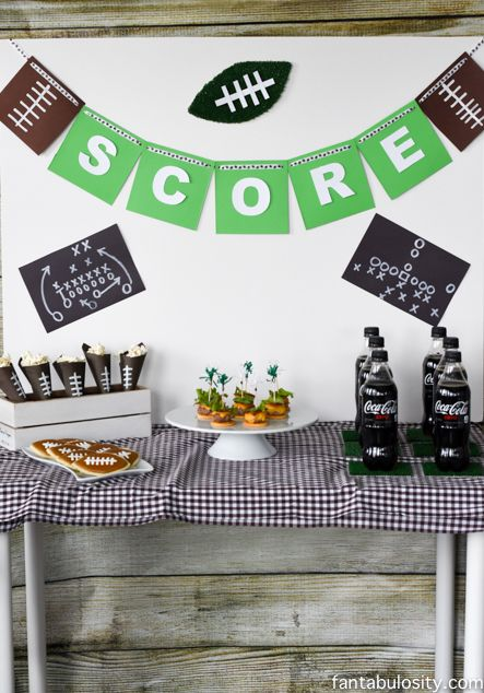 Tons of Cute Football Party Ideas fantabulosity.com