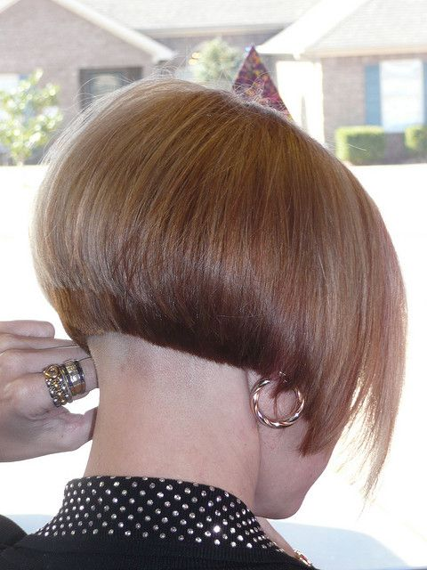 Shaved nape bob haircut