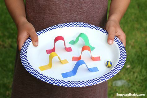 In this STEM challenge for kids, children will create a paper plate marble mazegame inspired by pinball machines using just a few common craft supplies and a marble. Follow our STEM for Kids Pinterest board!  In our most recent science club,I challenged my students to create a pinball-like marble maze game using a paper …