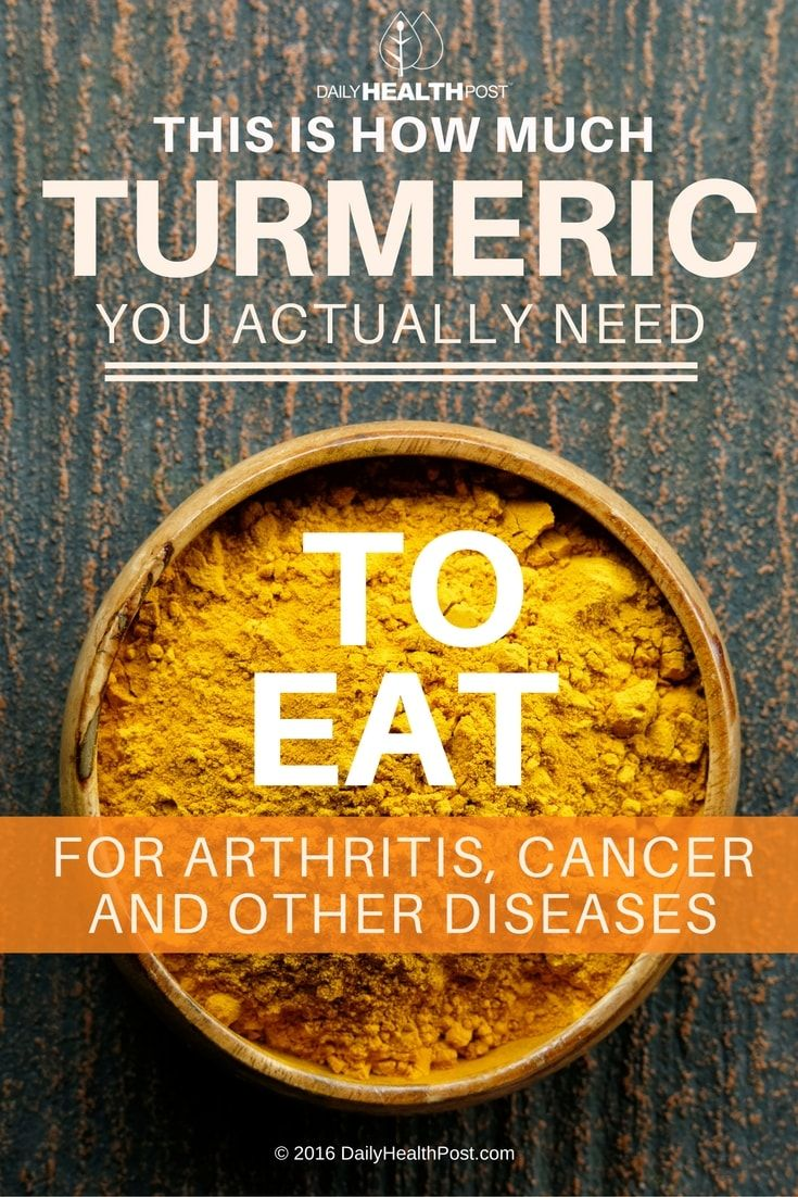 This Is How Much Turmeric You Actually Need To Eat For Arthritis, Cancer And Other Diseases via @dailyhealthpost