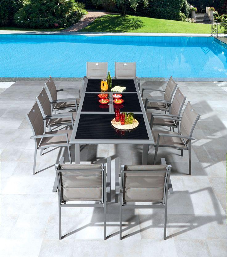 Table et chaises de jardin Centrakor | Mon extérieur | Pinterest