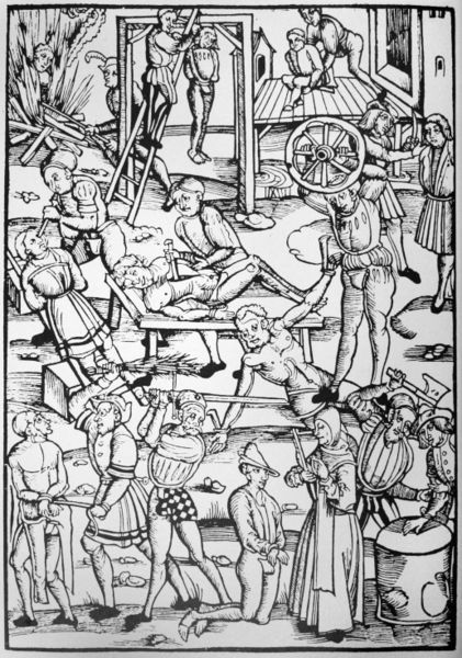 Witch punishment after the Laienspiegel of the city of Mainz 1508