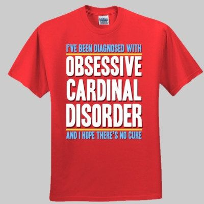 St. Louis Cardinals OCD shirt unisex and by SPORTSFANHEAVEN, $25.00