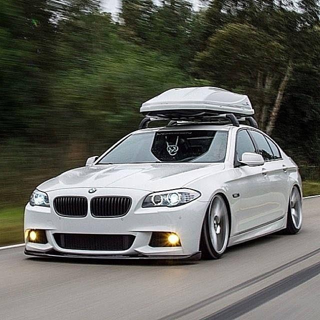 BMW F10 5 Series White Slammed Pinterest And