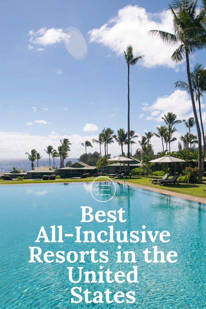 Although all-inclusive resorts are less popular in the United States than Mexico or Caribbean islands, there are some available for travelers who want to simplify their vacation. From Hawaii to New Hampshire, these hotels have all-inclusive packages available so you don't have to think too hard about what you'll be eating for meals.