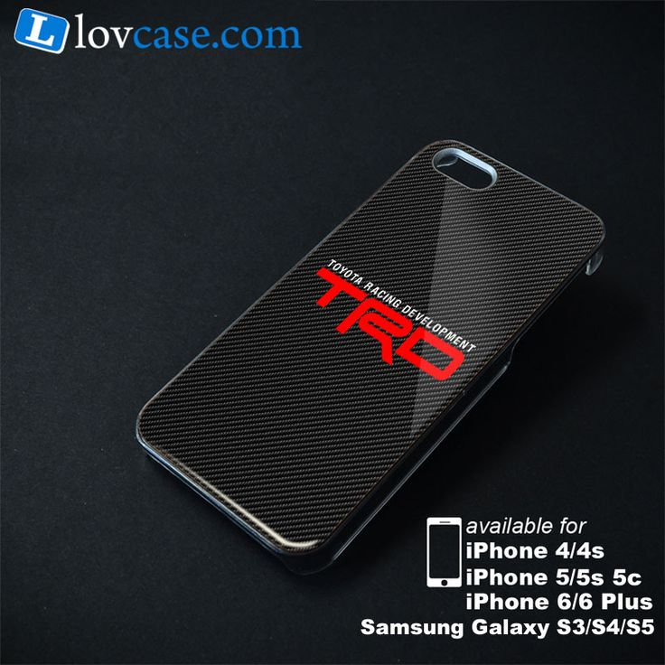 Toyota TRD Racing Development Carbon Phone Case | Apple iPhone 4/4s 5/5s 5c 6 6 Plus Samsung Galaxy S3 S4 S5 S6 S6 EDGE Hard Case