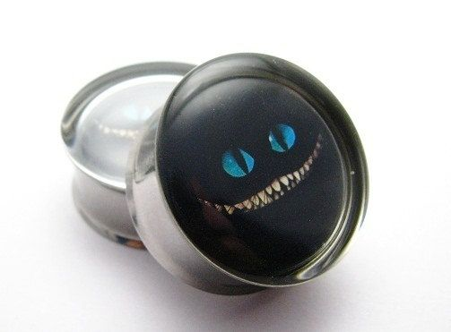 Hey, I found this really awesome Etsy listing at https://www.etsy.com/listing/121855426/cheshire-cat-alice-in-wonderland-plugs-1