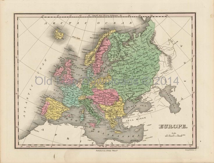 Old Map Downloads - Europe Continent Old Map Finley 1824 Digital Image Scan Download, $4.99 (http://www.oldmapdownloads.com/europe-continent-old-map-scan-finley-1824/)