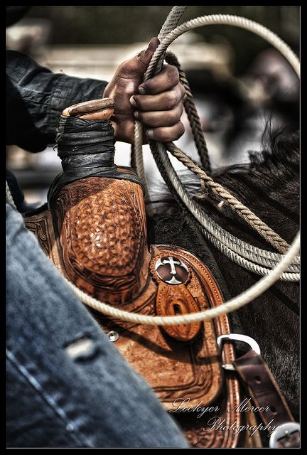 Nothing better then being in the saddle with a rope in your hand ♥