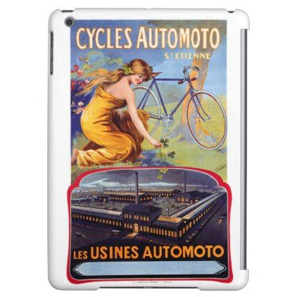 Automoto Cycles 1914 Vintage Advertising Poster Cover For iPad Air - antique gifts stylish cool diy custom