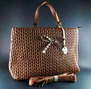 Borsa fiocco Brown #borse #moda #stile #www.bramadiluce.it #online