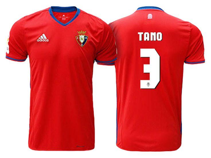 CA Osasuna #3 Tano Bonnin 2016-17 Home Short Shirt
