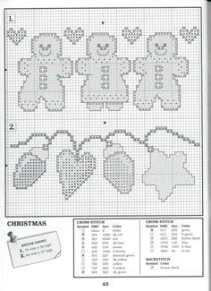 cross stitch gingerbread man - Pesquisa Google
