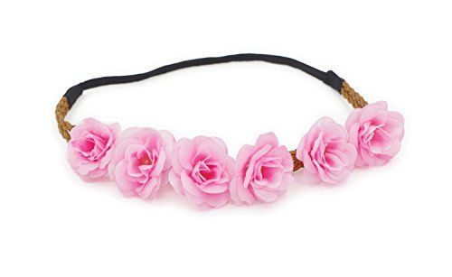 DDazzling Women Girl's Flower Elastic Stretch Fashion Headband Crown Festivals (#Pink) $10.00 Beautiful Designs And Elegant colors for weddings, bridal, bridesmaids, festivalsSpring Outing Elastic band fits most heads, very comfortable to wear and doesn't demand an exclusive hair style to hold it Easy to put on and creates a instant stunning new hair style In the process of delivery the flower may out of shape,so when receive it take a little time to finalize the design each petal,will more…