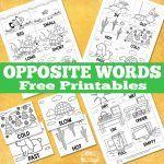 Free Opposite Words Printables