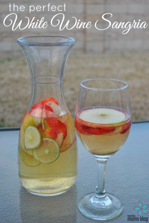 Kelly, Houston Moms Blog founder, shares her recipe for THE perfect white wine sangria.