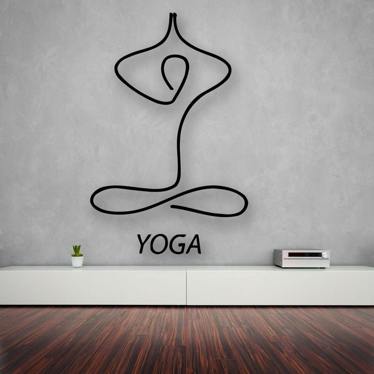 Wall Stickers Vinyl Decal Yoga Relaxation Meditation Lotus (ig1703) #wallstickers4you