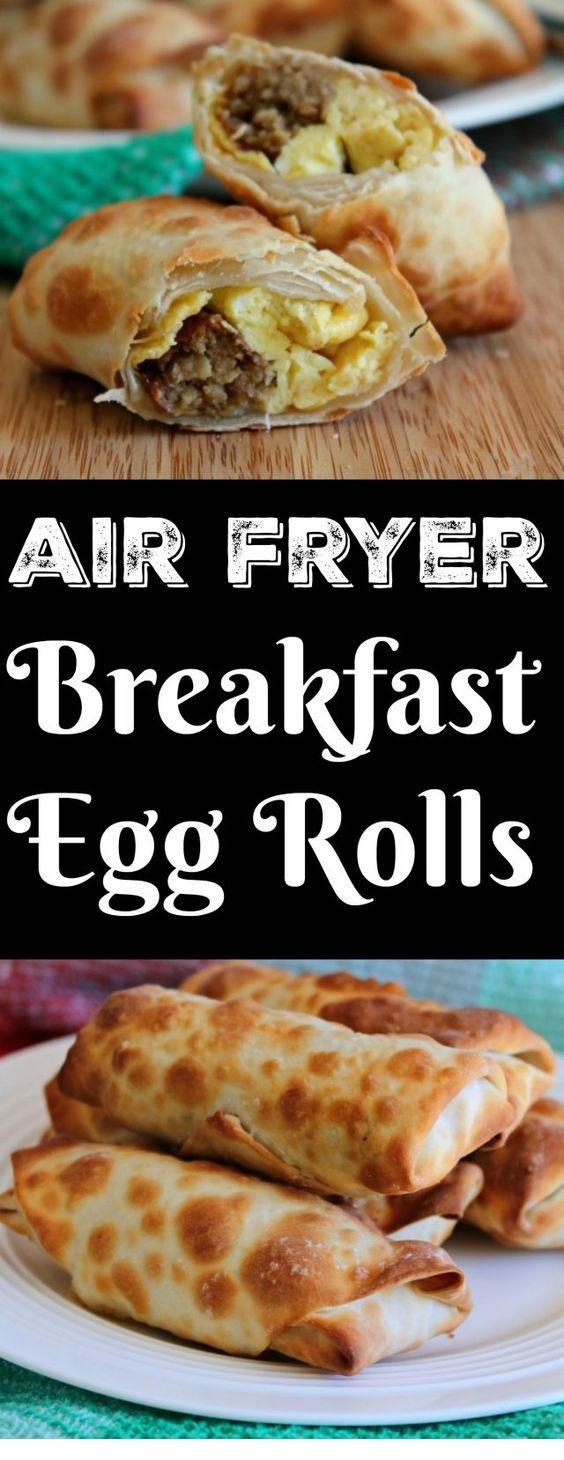 Breakfast Egg Rolls Air Fryer | Air Fryer Recipes