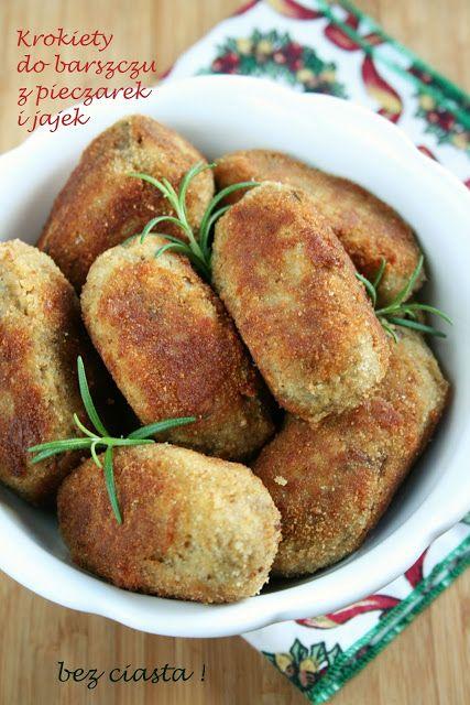sio-smutki! Monika od kuchni: Krokiety z pieczarek i jajek (bez ciasta)