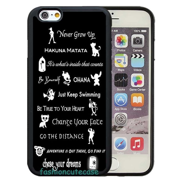 Disney Lessons Quotes Rubber Phone Case Cover For iPhone 5 6 Plus 7 8 Plus.