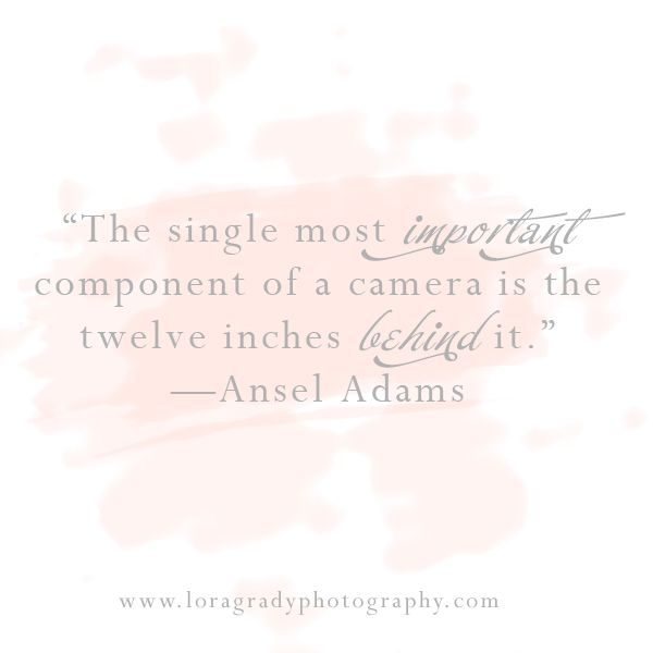 what is photography all about? Ansel Adams quote