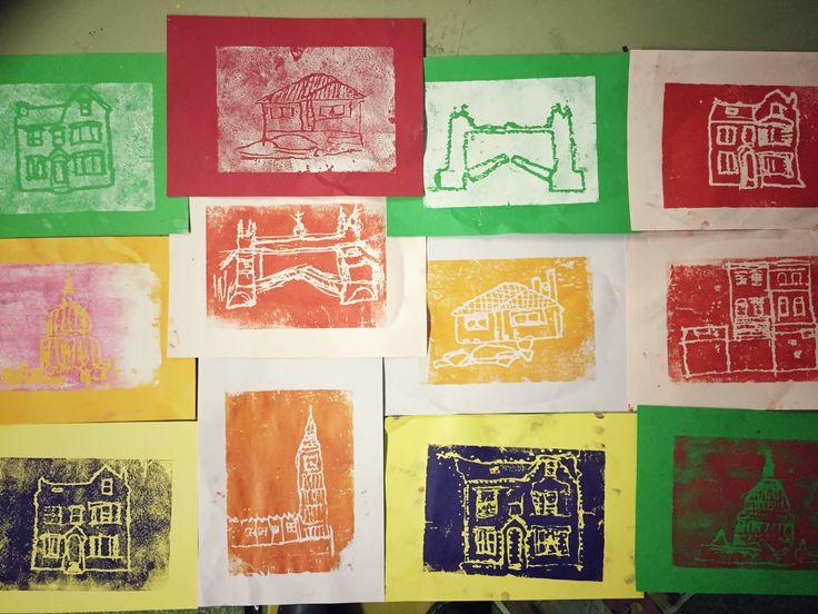Year 2 building polytile prints