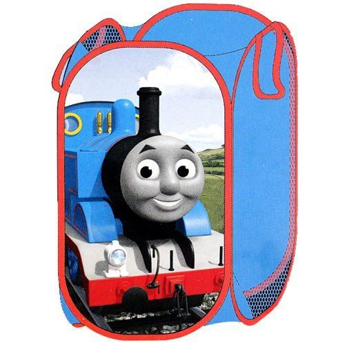 Thomas and Friends Hamper by Thomas the Tank Engine. $16.99. Ideal for toys or laundry, decorate your room with your favorite train - Thomas and Friends! 100% polyester, measures 22.5 x 14 x 14 inches (57 cm x 35.5 cm x 35.5 cm).