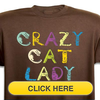 Check our Crazy Cat Lady T-Shirt to celebrate you #pet #animal#cat love. Just $18.99 + an extra $5off Just Enter Coupon Code: SAVEMORE5 at checkout at  http://www.petproductadvisor.com/store/mc/cat-crazy-lady-tshirt.aspx