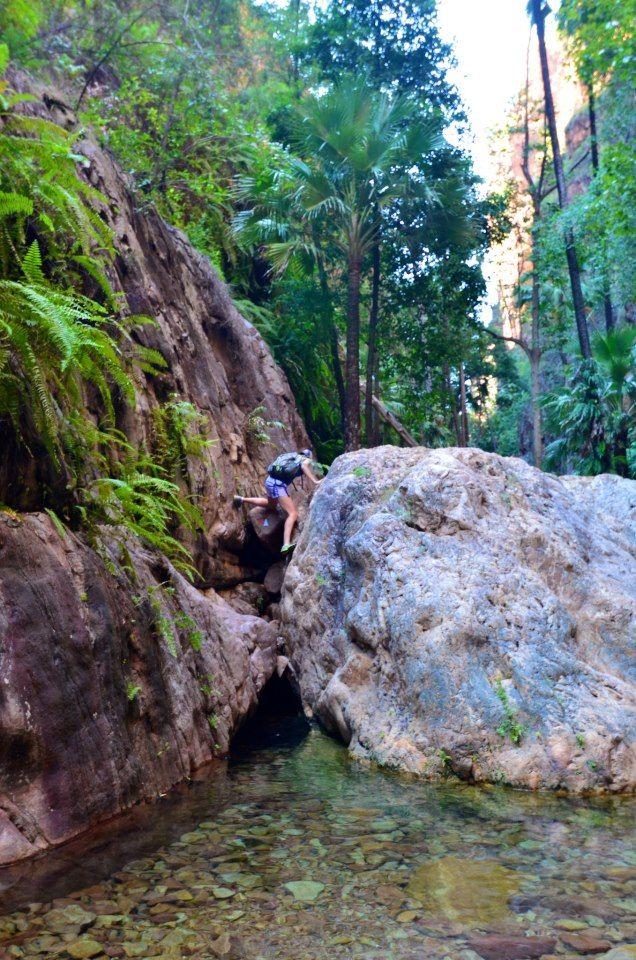El Questro Gorge - Boulder climbing