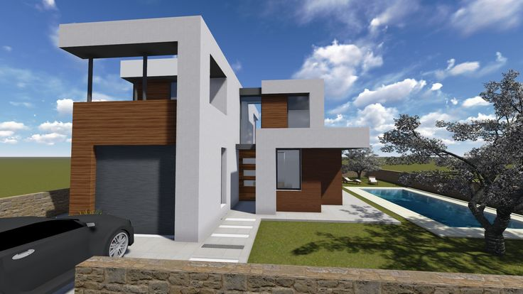 Ideas de casas de exterior estilo contemporaneo - Maqueta casa up ...