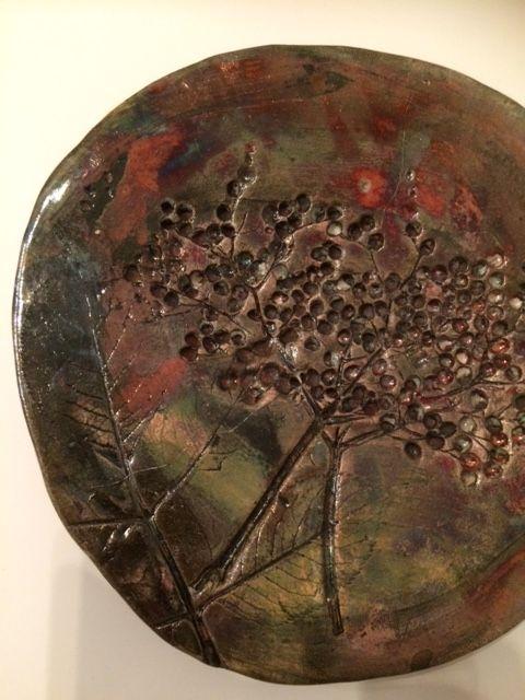 Raku ceramic plate