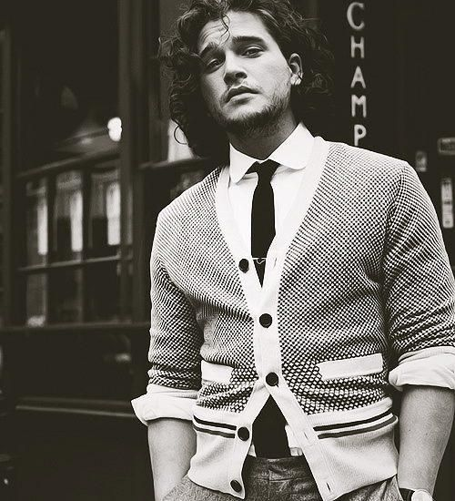 Kit Harrington - Jon Snow from Game of Thrones, and seriously you should really watch this show.  Just perfect.