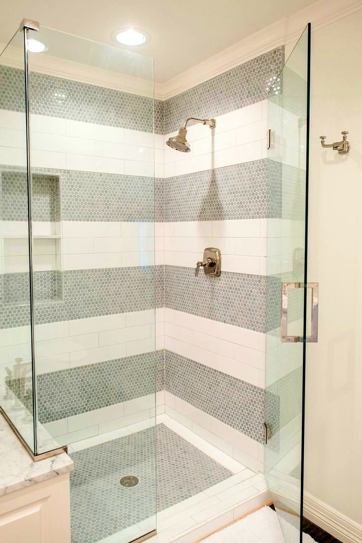 Image Of Bathroom Exciting Ideas About White Tile Shower Tiles Subway Surround Cebeaeca Wall With Pebble Floor