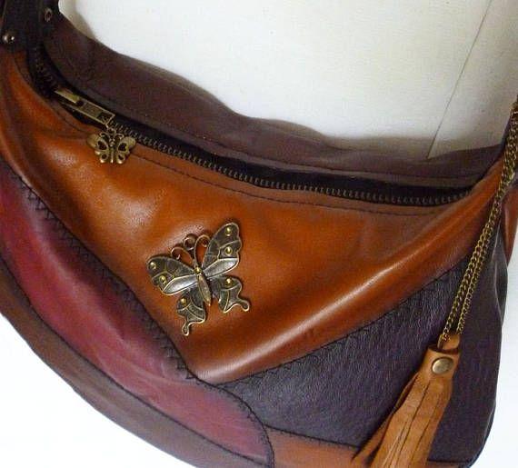 Woman's Leather Handbag Shoulder Bag One of a Kind