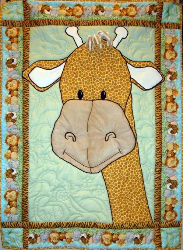Pictures of Baby Quilts for Girls: Giraffe Baby Quilt