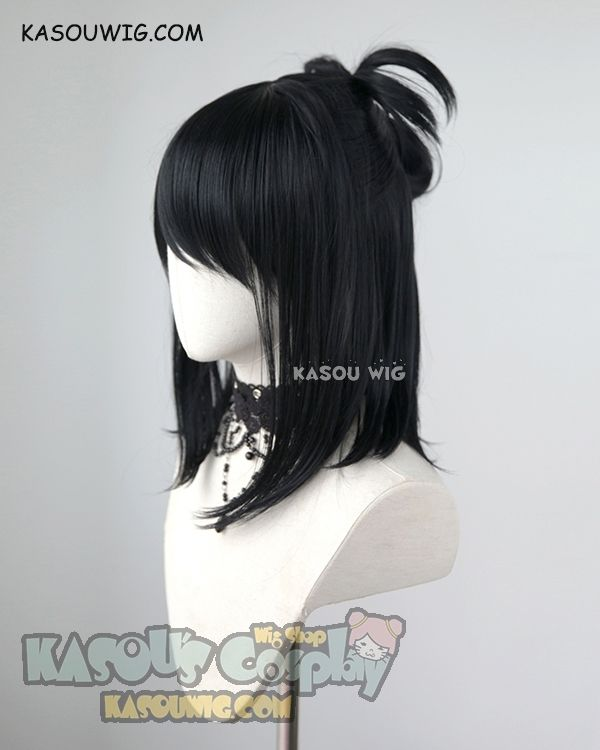 My Hero Academia Shimura Nana Medium Length Black Cosplay Wig