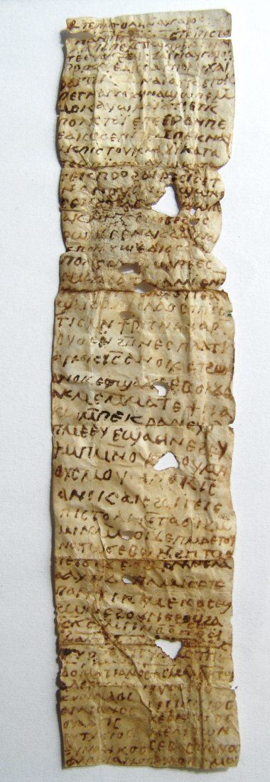 An extremely important vellum letter, c. 7th-8th Century AD, penned in Coptic script, containing an apocryphal letter of Jesus to Abgar, King of Edessa.<br><br>An excerpt from the letter reads 'The letter of Jesus Christ Son of God to Abgar, the king of Edessa…It is I, Jesus. I am the one who wrote this letter with my own hand. No power of the adversary will be able to enter into the place where one affixes this manuscript.'. This excerpt is followed by a list of names, perhaps a list of…