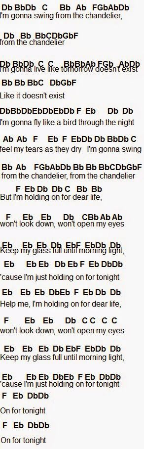 Chandelier flute notes