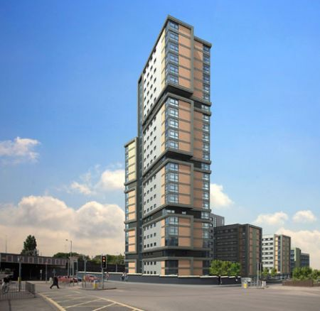 The University of Wolverhampton in England entered the record books in 2009 as the world's tallest modular building ever constructed.