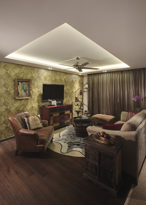 Textured feature wall living room living dining for Feature walls ideas in living rooms