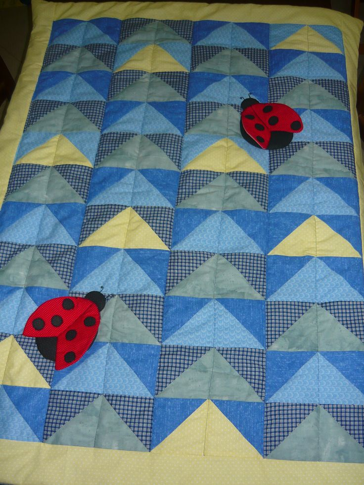 Quilt with ladybugs