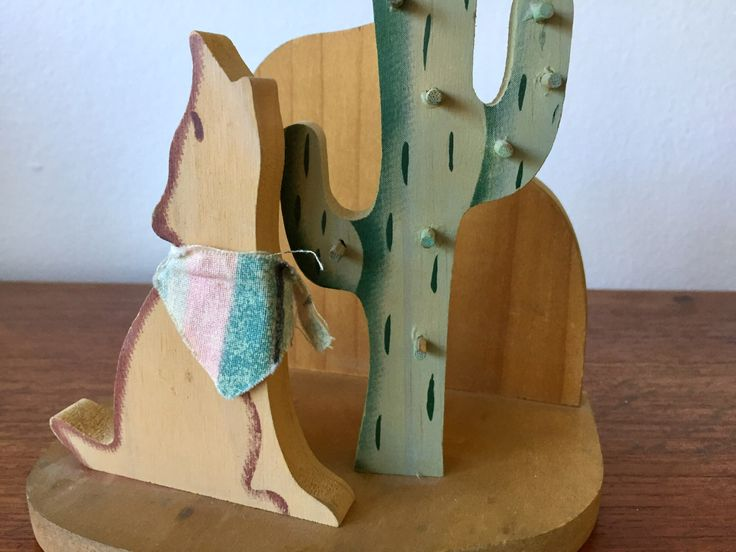 Wood Cactus Bookend / Cactus + Wolf Wooden Bookend / Desert Scene Shelf Decor / Saguaro Cactus + Howling Wolf / Southwestern Boho Decor by ShopRachaels on Etsy https://www.etsy.com/listing/492291554/wood-cactus-bookend-cactus-wolf-wooden