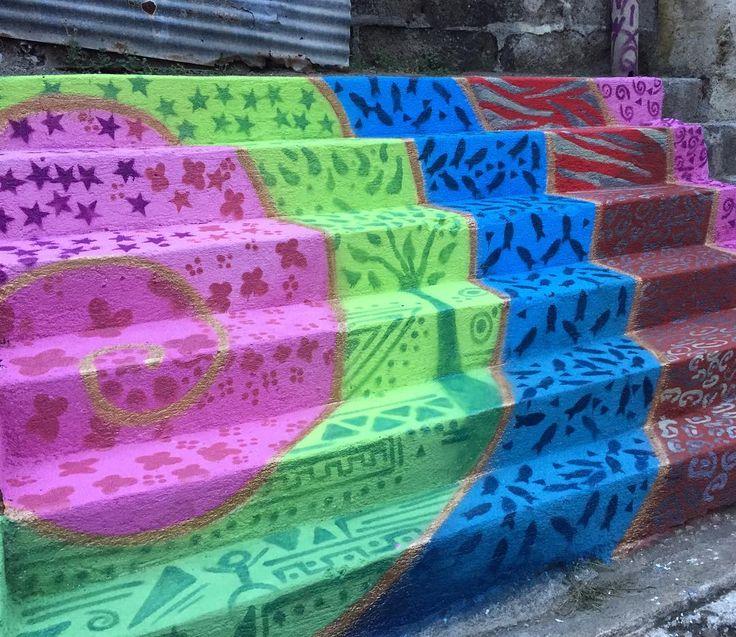 Espiral. Arte Urbano Comunitario en Tipitapa. Managua, Nicaragua. Octubre 2016. #UrbanArt #Art #Community #Colors #Spiral